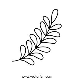 branch leaves foliage icon line style