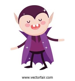 dracula with cape character trick or treat happy halloween
