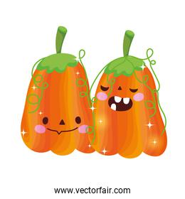 pumpkins with teeth decoration trick or treat, happy halloween