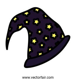 witch hat with stars trick or treat happy halloween