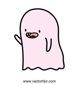 cute ghost character trick or treat happy halloween