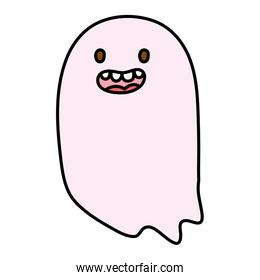 smiling ghost character trick or treat happy halloween