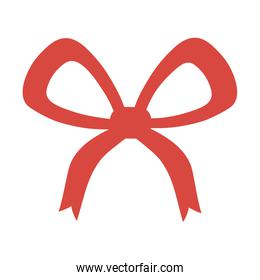 red bow ribbon decoration white background