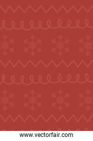red background snowflakes figures celebration merry christmas