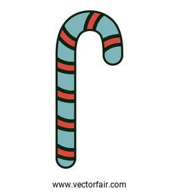 christmas candy cane sweet snack icon