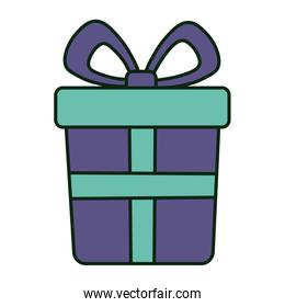 wrapped gift box bow decoration merry christmas