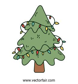 tree with lights decoration celebration merry christmas