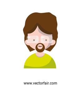 avatar man with hairstyle and beard design