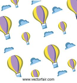 air balloon fly background design