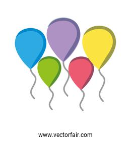 balloons objects decoration to celebration design