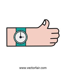 hand with watch fashion time
