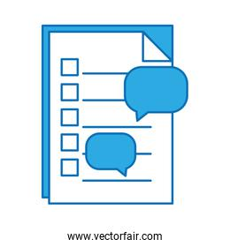 paper document with chat bubble design