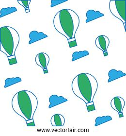 air balloon fly pattern background design