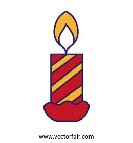 candle fire celebration decoration design