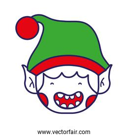 merry christmas elf with cute hat