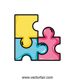puzzles pieces game to idea solution
