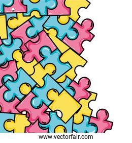 puzzle pieces game background illustration