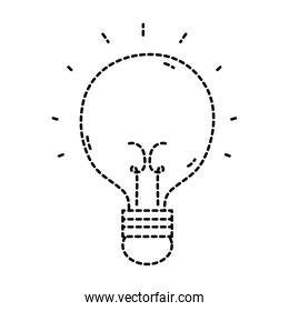 dotted shape light bulb idea to creative invention
