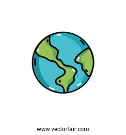 global earth planet geography with ocean