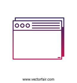 silhouette website internet page technology design