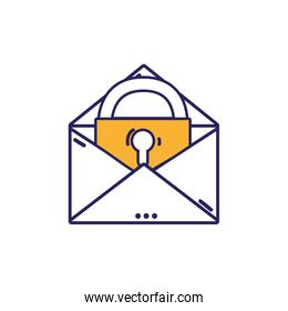 e-mail mesage with padlock insite to security information
