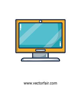 computer technology icon isolated