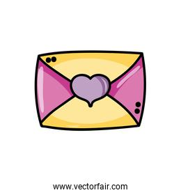 Isolated love card design