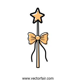 color magic wand with ribbon bow decoration
