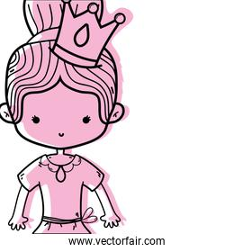 color girl dancing ballet with bun hair with crown decoration