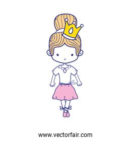colorful girl dancing ballet with crown decoration
