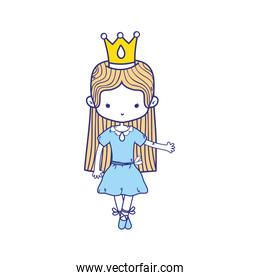 colorful girl dancing with crown and straight hair design