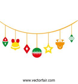 full color differents balls hanging to christmas decoration