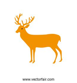 full color reindeer animal to merry christmas celebration