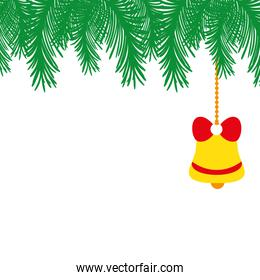 full color garland with bell hanging decoration to christmas