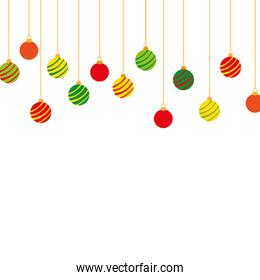 full color circle balls hanging decoration christmas design