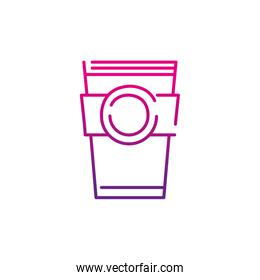 neon silhouette coffee cup tasty beverage