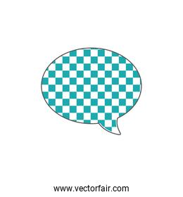 full color oval chat bubble text message style
