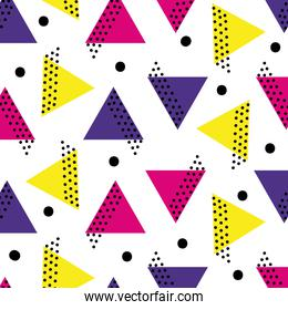 triangle memphis style abstract background