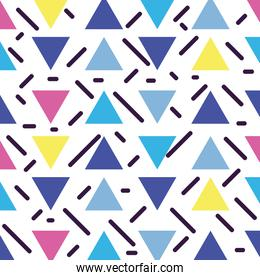 triangle figures memphis style wallpaper