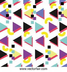 geometric memphis style with abstract background