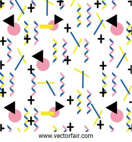 geometric memphis abstract style background