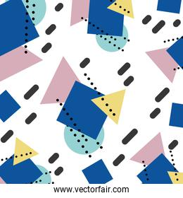 memhis geometric figures style background
