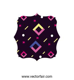 square with graphic geometric style background