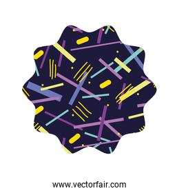 star with geometric figure style background