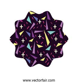 lace with geometric   style background