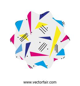 star with style geometric figure background
