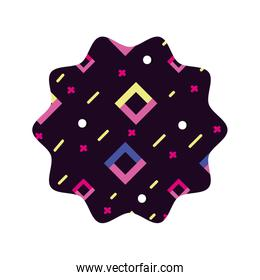 star with graphic geometric style background