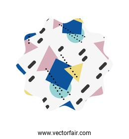 star with graphic geometric art background
