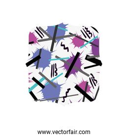 quadrate with graphic style figure background
