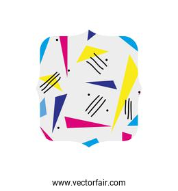 quadrate with style geometric figure background